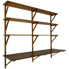 Borge Mogensen Shelving | From a unique collection of antique and modern shelves and wall cabinets at http://www.1stdibs.com/furniture/wall-decorations/shelves-wall-cabinets/