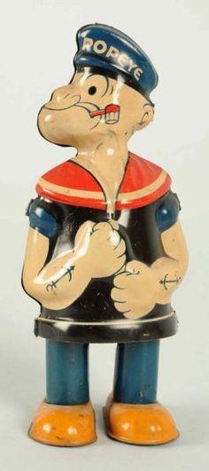 Tin Popeye Windup Waddler