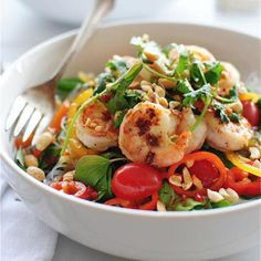 Food Porn Pics: Thai Shrimp Salad - 15 Food Porn Pics with Easy and Healthy Recipes - Shape Magazine