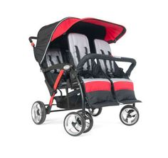 FD-4141079 Foundations, Quad Sport 4 Passenger Stroller, RED