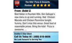 Best Italian in Fountain Hills. Ken Galluppi's new menu is up and running. Had Chicken...