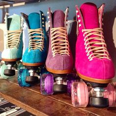 Moxie Skates- my absolute dream for beautiful suede recreational skates. UNGH.