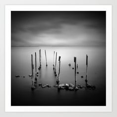 Ten candles, poles in Mesologi lagoon Greece, black and white square Art Print by kostaspavlis Square Art, From The Ground Up, Buy Frames, All Over The World, Printing Process, Wind Turbine, Greece, Gallery Wall, Candles