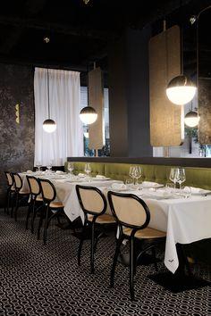 Project Restaurant Lyon Claude Cartier Décoration - La Foret Noire - magic circus editions - thonet vienna - la chance - wall and deco