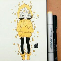 how to draw sketches Anime Drawings Sketches, Kawaii Drawings, Cartoon Drawings, Cool Drawings, Cute Art Styles, Cartoon Art Styles, Arte Copic, Marker Art, Kawaii Art