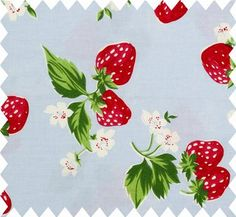 cath kidston strawberry cotton duck fabric