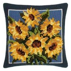 Vervaco - Cross Stitch Cushion Front Kit - Sunflowers