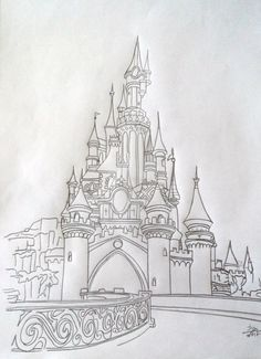 disney up tattoo / disney up tattoo ; disney up tattoo small ; disney up tattoo ideas ; disney up tattoo couple Disney Castle Drawing, Disney Princess Drawings, Disney Sketches, Disney Drawings, Disney Castle Tattoo, Drawing Disney, Cool Art Drawings, Pencil Art Drawings, Art Drawings Sketches