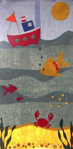 Ocean Wall Hanging | Wall hanging for my beautiful niece. Mo… | Flickr