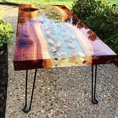 Table Top Art Resin Epoxy FDA Compliant Non Toxic Food Safe Ultra Crystal Clear Casting Epoxy Resin For Art, Casting, Jewelry - 2 Quart Kit - Resin diy - Epoxy Table Top, Epoxy Wood Table, Epoxy Resin Table, Diy Epoxy, Bar Top Epoxy, Epoxy Resin Art, Diy Resin Bar Top, Wood Tables, Bancada Epoxy