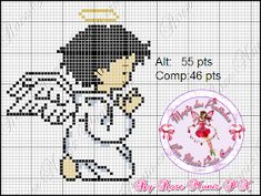 Bead Crafts, Diy And Crafts, Beading Patterns, Crochet Patterns, Graph Paper Art, Cross Stitch Angels, Angel Crafts, Pearler Beads, Christmas Cross