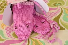 Piglet mittens by Anny Purls, via Flickr.    I AM SO TOTALLY KNITTING THESE TOMORROW.
