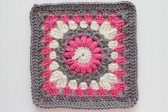 "granny square 8"" Pattern: Sunburst Granny Square by Priscilla Hewitt - color inspiration"