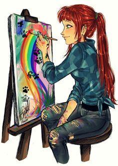 Artist by Gretlusky on deviantART Starfire Starfire Dc, Teen Titans Starfire, Starfire And Raven, Teen Titans Fanart, Teen Titans Go, Batwoman, Nightwing, Batgirl, Dc Comics