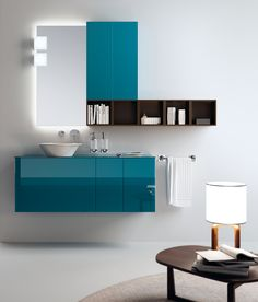 Font Collection | The #bathroom according to Scavolini | Baltic Blue |
