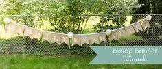 burlap and paper wedding banners {tutorial} | Little Birdie Secrets