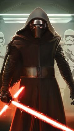 Kylo Ren Star Wars. Tap to see more Star Wars Force Awaken movie wallpapers for iPhone! Star Wars iPhone Wallpapers, backgrounds, fondos. - @mobile9