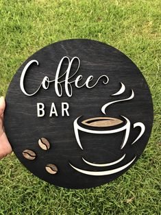 Excited to share this item from my shop: Coffee Bar round sign - Coffee rustic wood sign - Kitchen decor - Coffee bar decor - Coffee Hinging - Coffee lover gift - letters Coffee Bar Signs, Coffee Bar Home, Coffee Art, Coffee Kitchen Decor, Kitchen Rustic, Rustic Coffee Shop, Coffee Logo, Coffee Crafts, Vintage Coffee