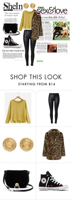 """""""Don't give up- it's a numbers, timing, and luck! x"""" by tyffanie ❤ liked on Polyvore featuring Versace, New Look, Once Upon a Time, Diane Von Furstenberg and Converse"""