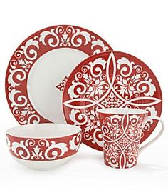 """Noble Excellence """"Moroccan Red"""" Dinnerware"""