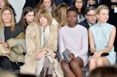 Anna Wintour, actresses Lupita Nyong'o and Naomi Watts attend the Calvin Klein Collection fashion show