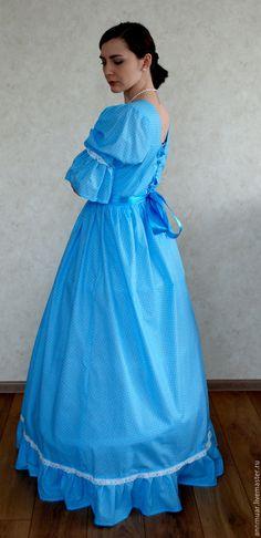 Купить Платье тематическое - в горошек, платье в пол, платье вечернее, платье на заказ, тематическая вечеринка