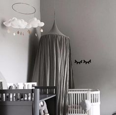 [Visit to Buy] Beige White Grey Pink Kids Boys Girls Princess Canopy Bed Valance Kids Room Decoration Baby Bed Round Mosquito Net Tent Curtains #Advertisement