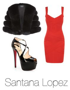 Get Her Look(TV Edition)... Santana Lopez ~ Glee by mariathedancer2040 on Polyvore featuring Harrods and Christian Louboutin