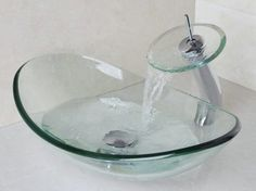 ML - Torneira cascata cuba vidro valvula inteligente clic