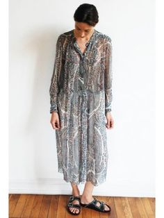 Isabel-Marant-Etoile-Saphir-silk-print-dress-size-42-new