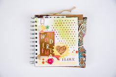 Mixed media book art journal