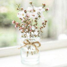 flowers in jars Flowers In Jars, Fresh Flowers, White Flowers, Beautiful Flowers, Simple Flowers, Pastel Flowers, Ballet Beautiful, Table Flowers, Vintage Flowers
