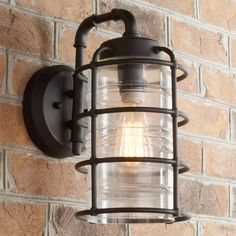 Check out Pipeline Wall Lantern - Medium from Shades of Light Outdoor Hanging Lanterns, Outdoor Wall Lantern, Outdoor Wall Sconce, Outdoor Walls, Outdoor Lighting, Indoor Outdoor, Outdoor Spaces, Industrial Style Lighting, Industrial Chic