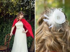 Slip away and into a dreamy storybook styled shoot scene, inspired by the tale of Red Riding Hood and photographed by the lovely Kathrin Gallova. What Is Fashion, Bride Hair Accessories, Red Riding Hood, Stunning Dresses, Hair Accessory, Little Red, Halloween Ideas, Brides, Flower Girl Dresses