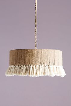 Anthropologie's Top Trends for Spring - Anthropologie Rara Pendant (possible diy inspiration for our dining room pendant light…?