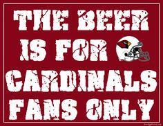 Arizona Cardinals Fan Sign - Man Cave Sign