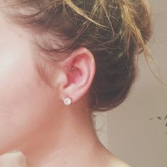 conch and forward helix piercings