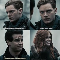 "2,282 To se mi líbí, 29 komentářů – Shadowhunters➰ (@shadowhunters_inblood) na Instagramu: ""Simon I love your jokes but don't make fun of my baby Jace  And idk what's up with Clary…"""
