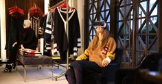 """The retailer will allow consumers to rent the headsets in its stores to provide a front-row """"view"""" of its fall fashion show."""