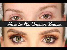 How to Fix Uneven Eyebrows | XxSarahNicolexX - YouTube