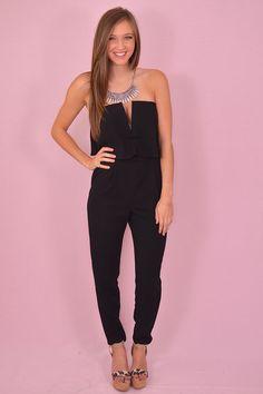 9ecf0fa1e74a Girls Night Out Jumpsuit in Black shopbelleboutique.com Trendy Online  Boutiques