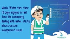 Using social media to communicate and respond, Manila Water deals with water utility infrastructure management issues and levels of service. Water Utility Company, Water Company, Water Management, Asset Management, My Community, Community Manager, Water Modeling, Water Conservation, Social Media Site