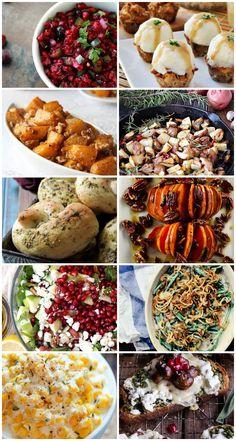 Thanksgiving Side Dish Recipes with free menu planner | http://jillianastasia.com/thanksgiving-side-dish-recipes-free-menu-planner/