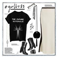 """#girlboss"" by fassionista ❤ liked on Polyvore featuring Kasun, Diane Von Furstenberg, Yves Saint Laurent, ZeroUV, Kill Star, Thomas Sabo, Merola, girl, girlpower and ankh"