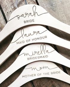 Personalized Wedding Dress Hangers - Bridal Party Hangers - Bridal Hanger - Wedding Hanger - Bridesmaid Gift - Custom Engraved Hanger gifts for bridal party Featured Etsy Product - Bridal & Wedding Bride Hanger, Wedding Dress Hanger, Hangers For Wedding, Bridesmaid Hangers, Bridesmaid Jewelry, Free Wedding Invitations, Before Wedding, Bridesmaid Proposal, Wedding Bridesmaids Gifts