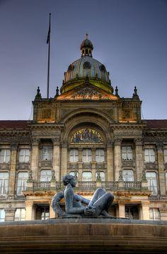 Birmingham City Hall at dusk by slack12, Birmingham, UK #England