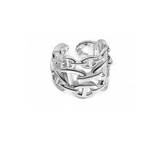 Chaîne d'Ancre Enchaînée Hermes ring in silver, GM, size 51