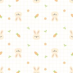 Cute Bunny And Carrot Seamless Pattern Background Cute Pastel Wallpaper, Soft Wallpaper, Cute Patterns Wallpaper, Kawaii Wallpaper, Wallpaper Iphone Cute, Cartoon Wallpaper, Background Patterns, Cute Wallpapers, Animal Wallpaper