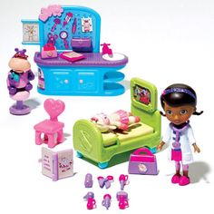 All you need to help Doc McStuffins treat all her toys! This 20-piece set includes Doc, Lambie, Hallie and all her doctor equipment. Ages 3 and up. Plastic. Imported. Warning: CHOKING HAZARD Small parts. Not for children under 3 years. ©Disney