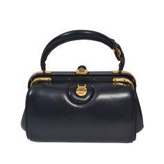 Lederer 1960s Navy Handbag | 1stdibs.com